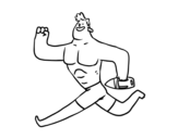 Dibujo de Socorrista corriendo