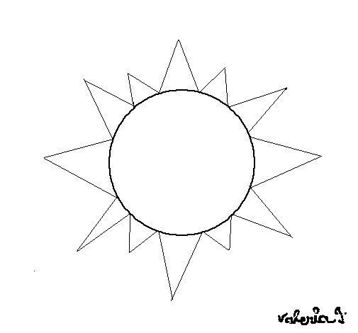 Dibujo de Sol 4a para Colorear