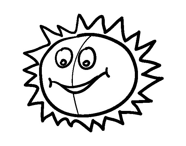 Dibujo de Sol feliz para Colorear