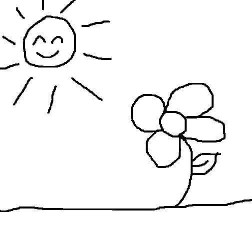 Dibujo de Sol y flor 2 para Colorear