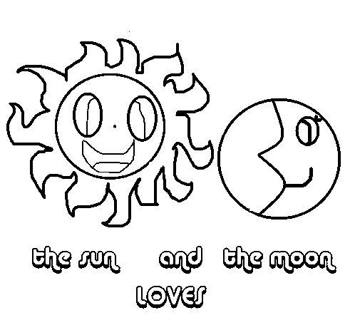 Dibujo de Sol y luna para Colorear  Dibujosnet