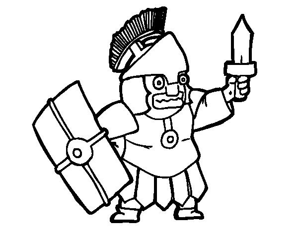 Dibujo De Soldado Asustado Para Colorear