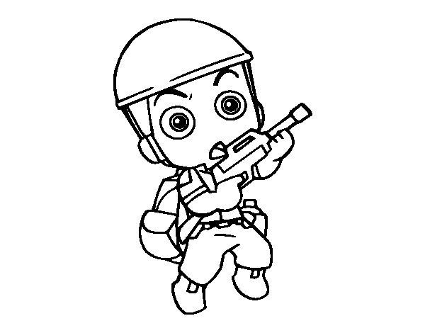 Dibujo de Soldado raso para Colorear