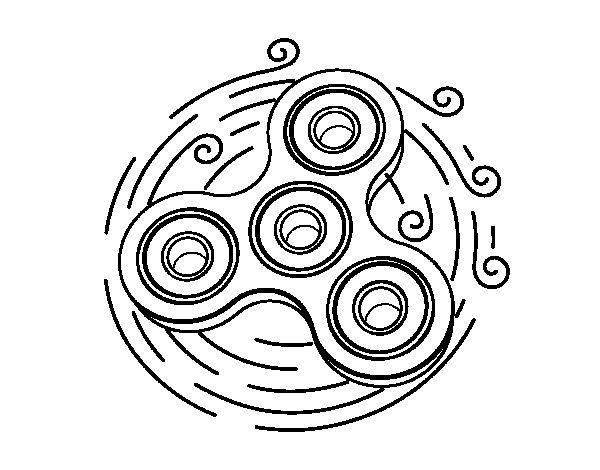 Dibujo de Spinner de juguete para Colorear
