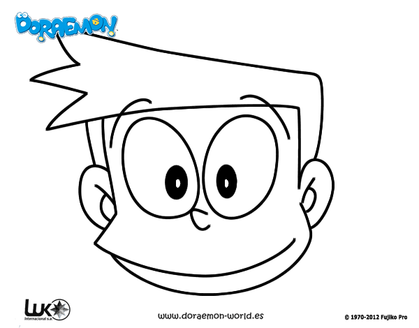 Dibujos Para Colorear E Imprimir De Doraemon: Dibujo De Suneo Para Colorear
