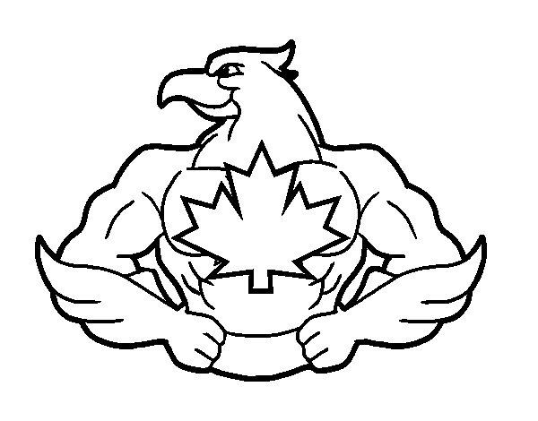 Dibujo de Super ave para Colorear