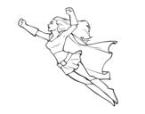 Dibujo de Súper chica volando para colorear