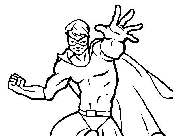 Dibujos De Superheroes Para Colorear E Imprimir: Dibujo De Superhéroe Enmascarado Para Colorear