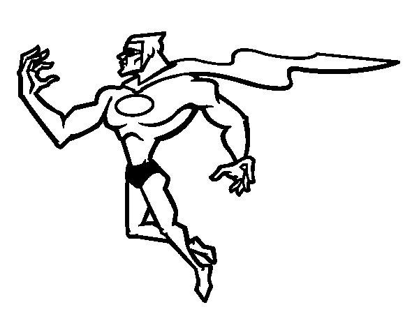 Dibujo de Superhéroe poderoso para Colorear