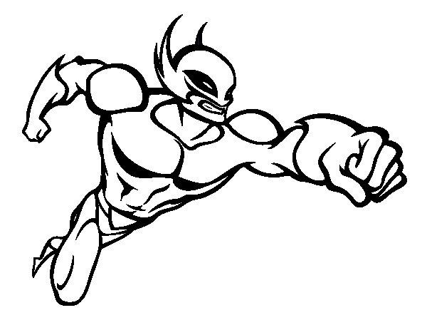 Dibujo de Superhéroe sin capa para Colorear