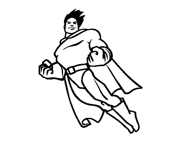 Dibujos De Superman Para Colorear Pintar E Imprimir Gratis: Dibujo De Superman Volando Para Colorear
