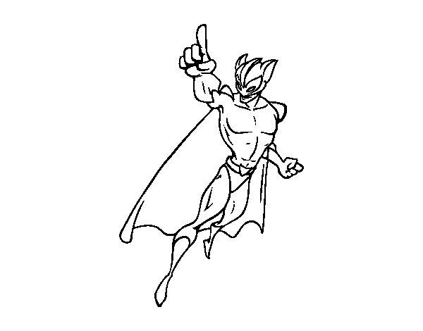 Dibujo de Supervillano para Colorear