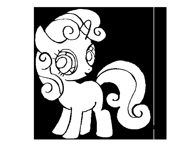 Dibujo de Sweetie belle para Colorear