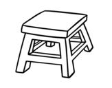 Dibujo de Taburete cuadrado para colorear