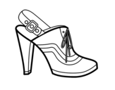 Dibujo de Tacón con talón destapado para colorear