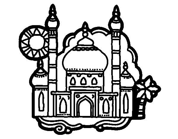 Dibujo de Taj Mahal para Colorear