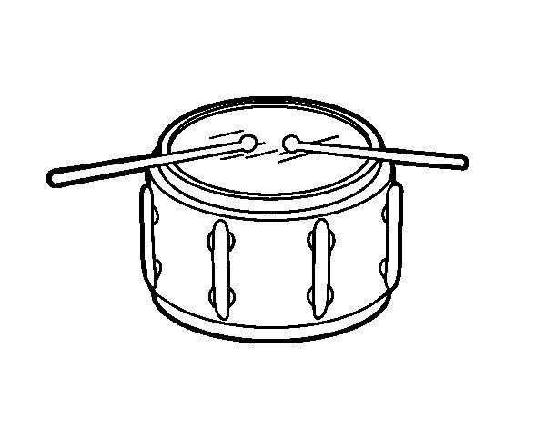 Dibujos De Una Tambora Y Guira: Dibujo De Tambor De Redoble Para Colorear