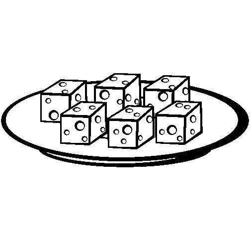 Dibujo de Taquitos de queso para Colorear  Dibujosnet