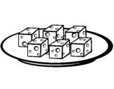 Dibujo de Taquitos de queso para colorear