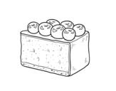 Dibujo de Tarta de arándanos para colorear
