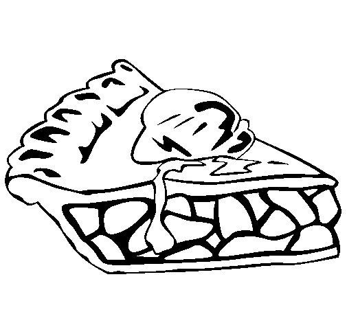Dibujo de Tarta de chocolate para Colorear
