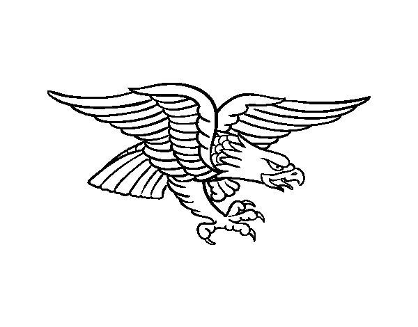 Dibujo de Tatuaje de águila para Colorear