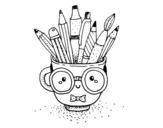 Dibujo de Taza animada con lápices