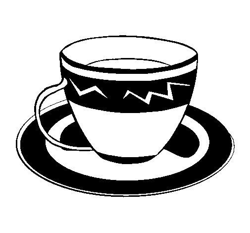 Dibujo de Taza de café para Colorear