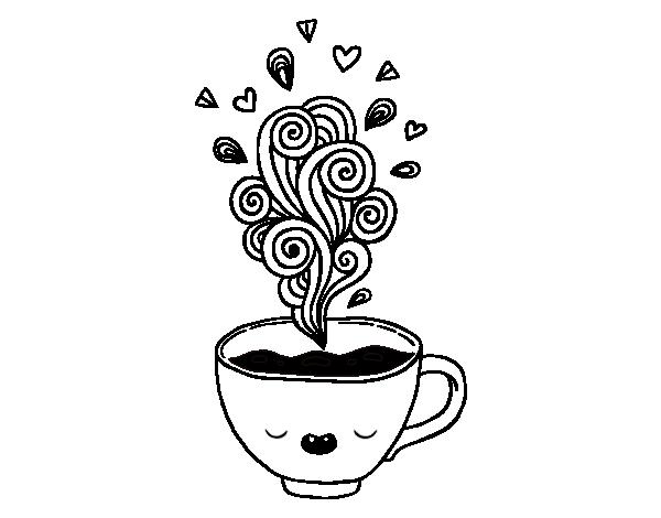 Dibujo de Taza de café kawaii para Colorear - Dibujos.net