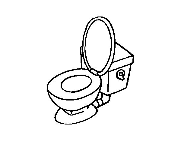 Dibujo de taza de v ter para colorear for Imagenes de taza de bano para colorear