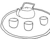 Dibujo de Té chino para colorear