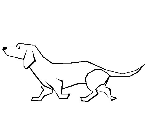 Dibujo de Teckel para Colorear  Dibujosnet