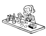 Dibujo de Técnico de laboratorio para colorear
