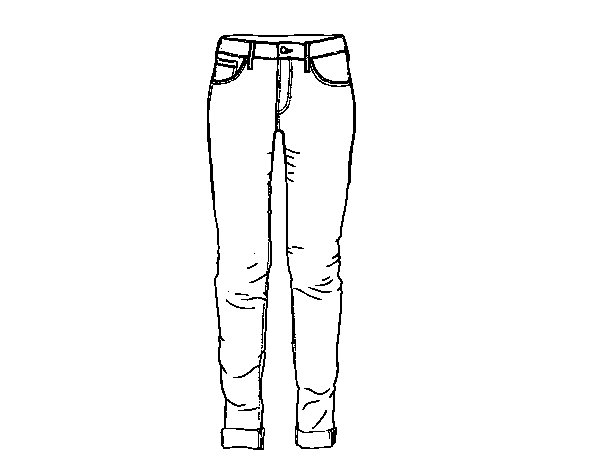 Colorear Dibujo Pantalón En Línea: Dibujo De Tejanos Para Colorear