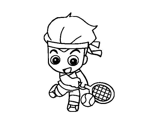 Dibujo de Tenis para Colorear