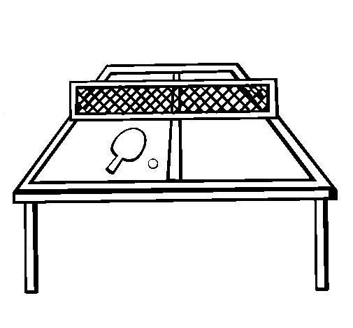 Dibujo de Tenis de mesa 1 para Colorear