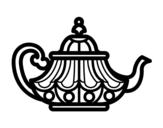 Dibujo de Tetera árabe para colorear