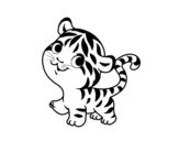 Dibujo de Tigre bebé para colorear