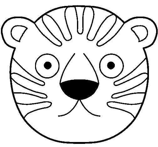 Dibujo de Tigre II para Colorear