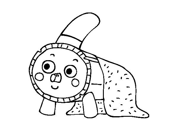 Dibujo de Tió de Navidad para Colorear - Dibujos.net