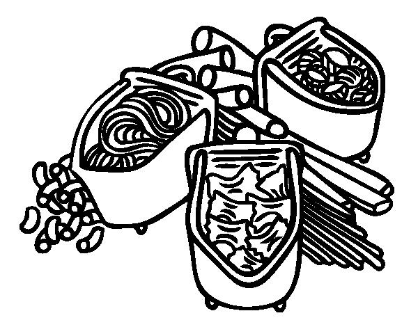 Dibujo De Tipos De Pasta Para Colorear