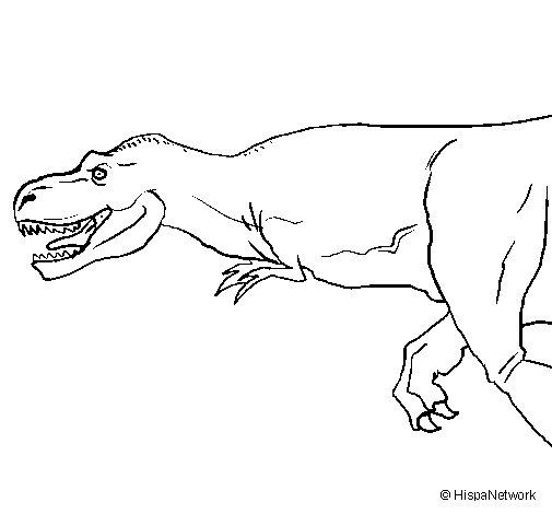 Dibujo de Tiranosaurio rex para Colorear