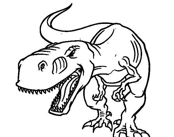 Dibujo de Tiranosaurio Rex enfadado para Colorear  Dibujosnet