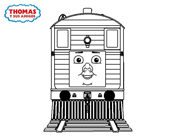 Toby Train Coloring Pages