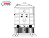 Dibujo de Toby de Thomas y sus amigos