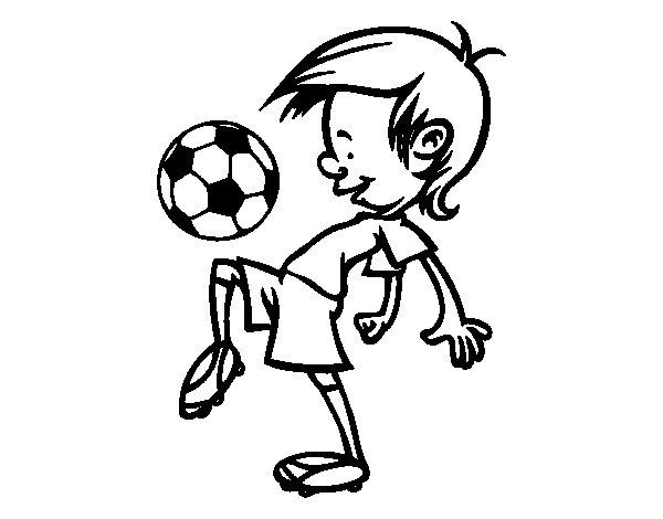 Dibujos De Futbolistas Famosos Para Colorear: Dibujo De Toques Con El Balón Para Colorear