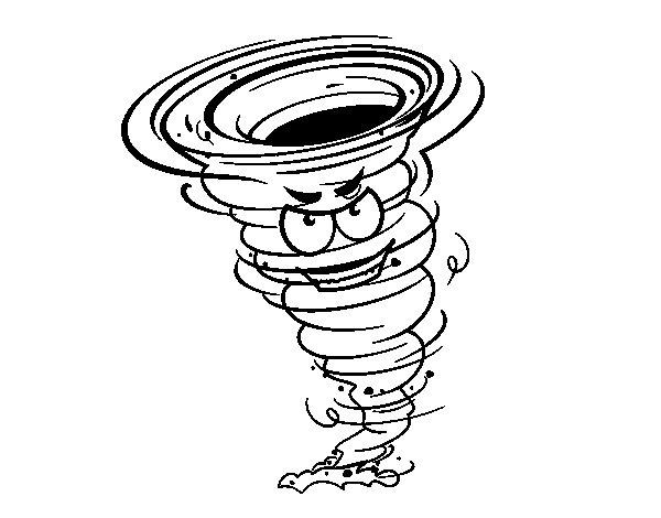 Dibujo de Tornado fuerza 3 para Colorear