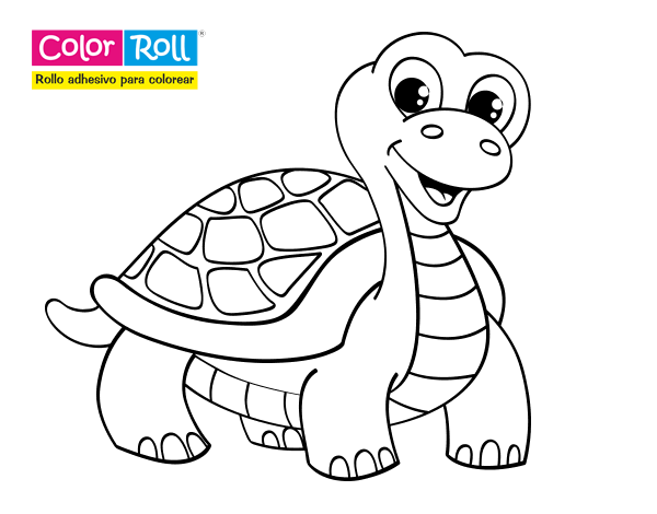 dibujo de tortuga color roll para colorear