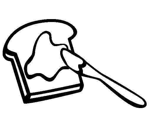 Dibujo de Tostada para Colorear