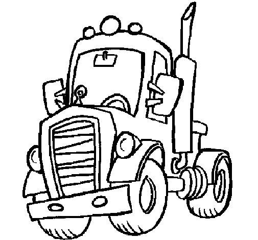 Dibujo de Tractor para Colorear